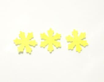 Snow flake confetti, confetti, snow confetti, wedding confetti, birthday confetti, yellow confetti, party confetti, yellow snow confetti
