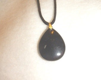 CLEARANCE - Blue goldstone pendant necklace (P153)