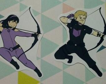 Hawkeye - Kate Bishop and Clint Barton - Stickers