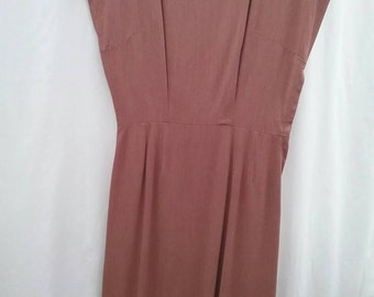 1950s gabardine dress