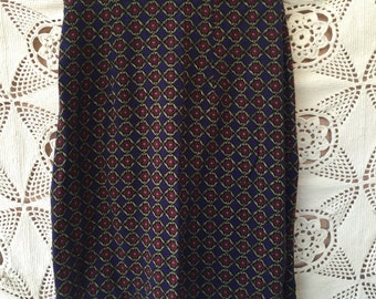 90's PETITE Flower Pencil Skirt by CDC size 4