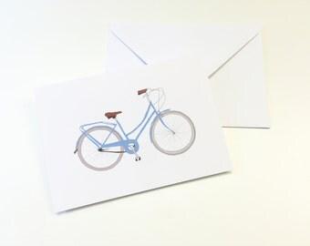 blue bobbin bike greeting card