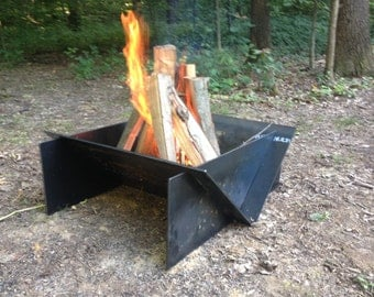 Abstract Steel Outdoor Firepit