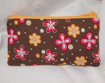 SALE! Small Zipper Pouch- Floral