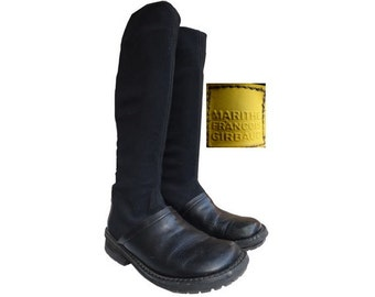 90s marithe françois Girbaud BOOTS // Steampunk boots // size us 7.5