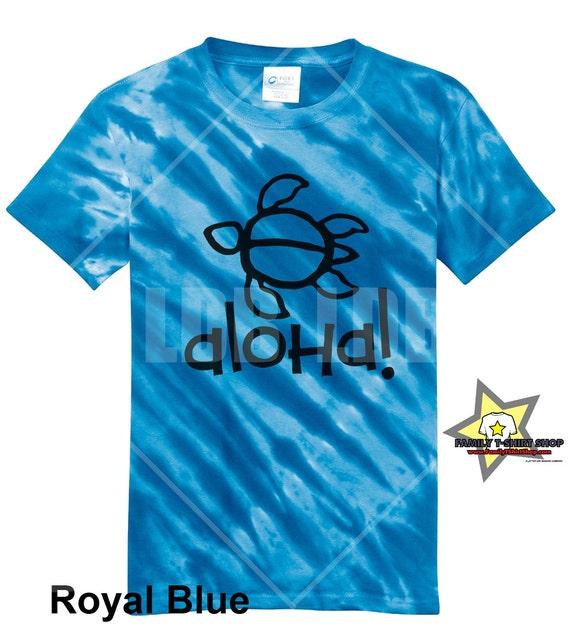 Aloha Turtle Hawaiian T-Shirt - Tie Die T-Shirt