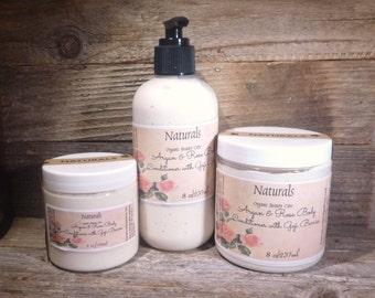 Rose & Argan Body Conditioner w/Goji Berries Organic/Natural Silky Soft Skin
