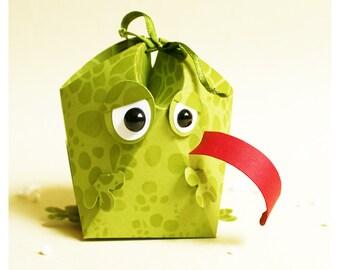 "plotterdatei - gift box ""frog with xxl tongue"""