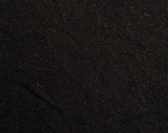 Black Wool Jersey Fabric-By-The-Yard