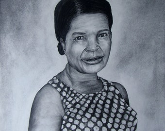 Custom made charcoal drawing - 16 x 20 - Example only