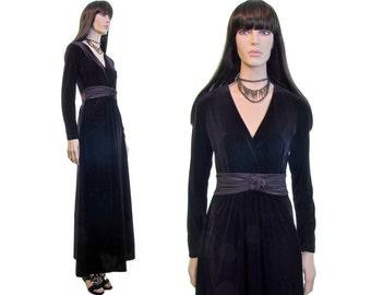 amethyst jewel nye dress velvet dress velvet maxi dress goth dress 90s dress new years eve dress purple plunge neck dress 90s goth dress