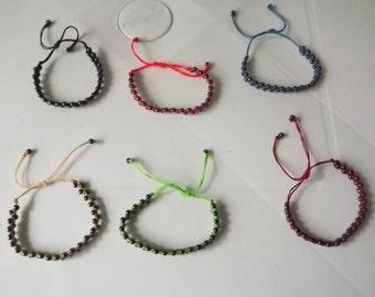 3 Peruvian Hematite Bracelets.Magnetic Properties . Two lines.