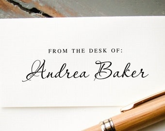 Custom Self Inking From The Desk Of Stamp, Personalized Stationary  Letterhead Stamp, Professional