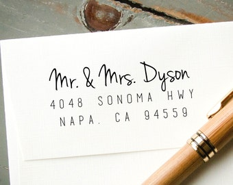 Return Address Stamp, Self Inking Stamp, Custom Stamp, Personalized Stamp, Custom Address Stamp, Housewarming Gift, Wedding Invitation Stamp