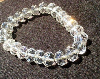 Bracelet beads cut clear swarovski crystal.