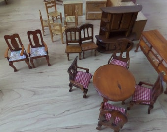 Vintage Wooden Doll Furniture