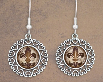 Fleur De Lis Earrings - 57878