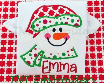 Christmas Snowman Personalized Shirt