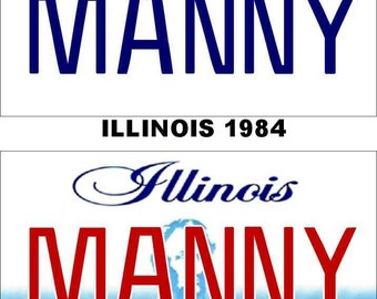 Personalized Illinois Refrigerator Magnet State License Plate Replica