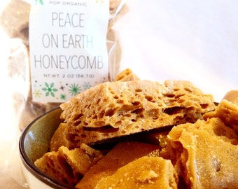 Honeycomb Organic Peace On Earth All Natural Caribbean Gourmet Artisan Hard Candy Brittle