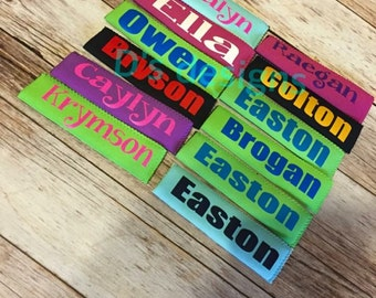 Popsicle sleeve with name