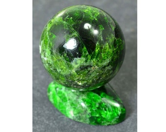 CHROME DIOPSIDE sphere 28 mm with stand specimen #4096