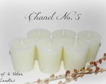 Chanel No. 5 (type) Scented Votive Candles *Set of 6*