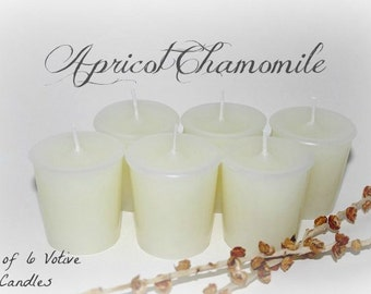 Apricot Chamomile Scented Votive Candles