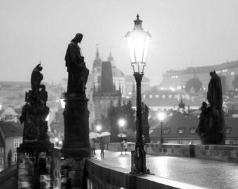 """Prague Photography, Prague Print, Charles Bridge, """"Dawn"""""""