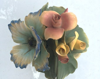Capodimonte flowers in basket