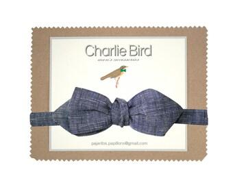 "Flowered bow tie ""lin minime"""