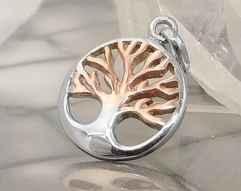 Tree of Life Pendant bicolor, silver 925