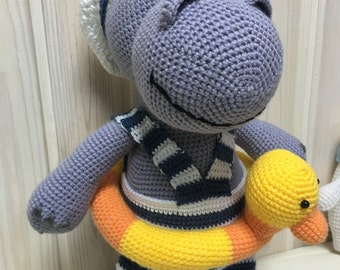 Knitted toy  Hyppopotamus