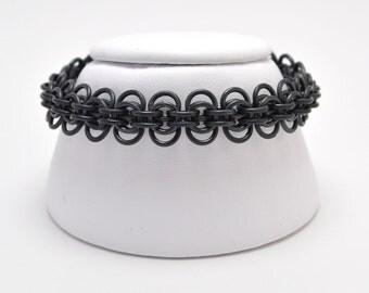 Back to Work Bracelet in Black Niobium
