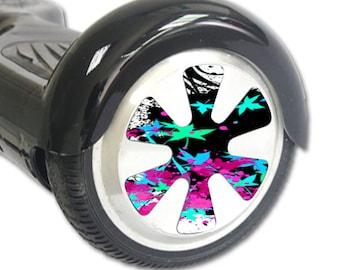 Skin Decal Wrap for Hoverboard Balance Board Scooter Wheels Leaf Splatter
