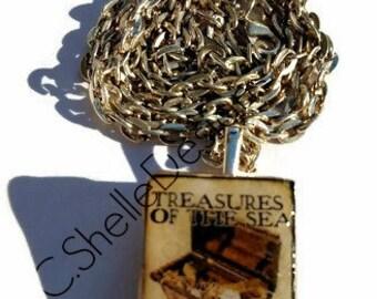 Vintage Nautical Scrabble Pendant Necklace