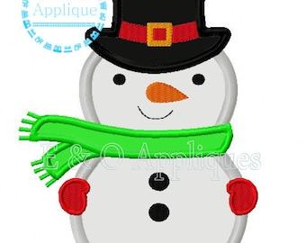 Snowman Applique Design - Winter Applique Design - Snowman Embroidery Design - Winter Embroidery Design - Snowman Digital Design
