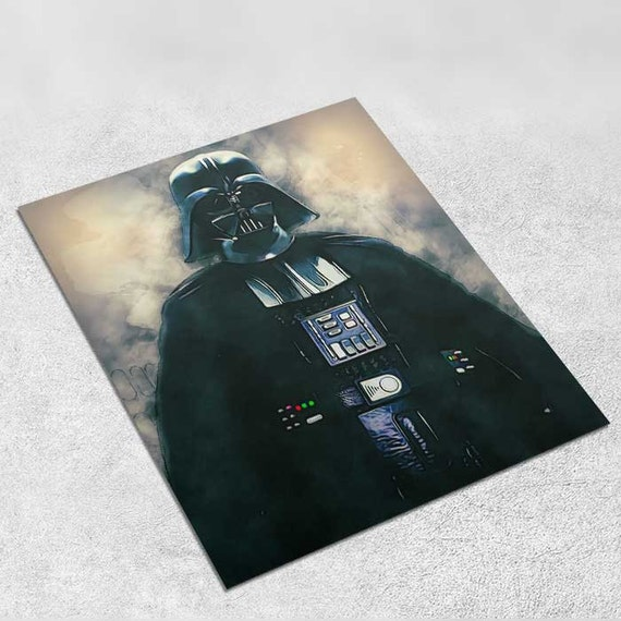Darth Vader - Star Wars Art Print Poster - INSTANT DOWNLOAD 8x10inches - Ideal Last Minute Gift