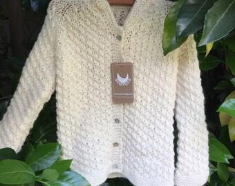 Merino Wool Sweater, Merino wool Cardigan, Girl Cardigan, Hand knitted Cardigan, 5 6 years