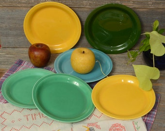 American pottery LUNCH PLATES, Set of 6