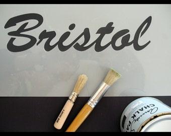 Bristol Text  Reusable Stencil