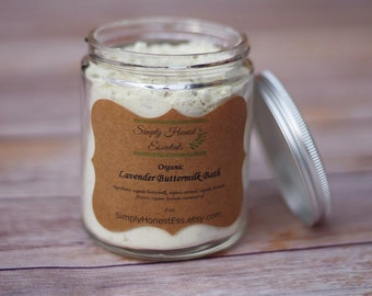 Organic Lavender Buttermilk Bath - Aromatherapy - Bath Soak - Bath Milk - Oatmeal Bath - Skincare - Gift - Relaxation