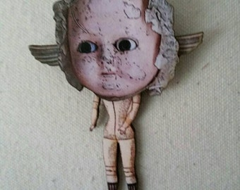 Winged Dolly Brooch