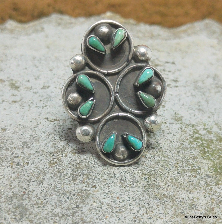 Zuni Petit Point Turquoise Ring