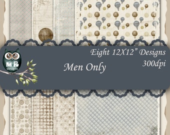 Men Only 12x12 Collection - Instant Download