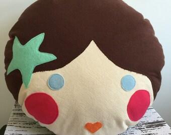 Doll Face Plush Pillow- Mermaid