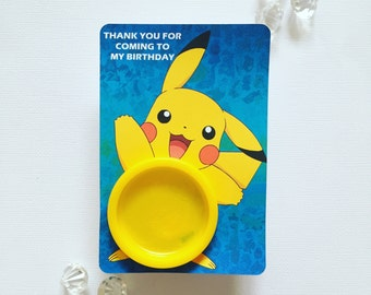 Pikachu playdoh cards