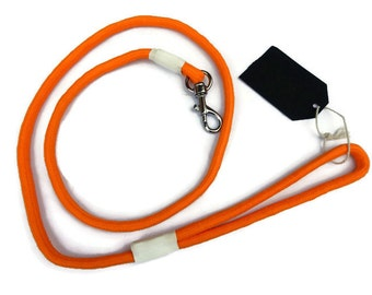 Leash - Fluro Orange Rope Dog Leash, Handmade Puppy Lead