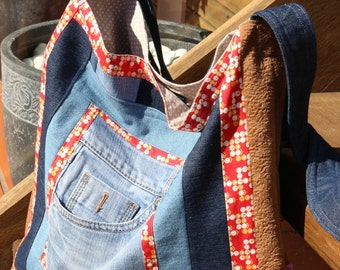 Recycled Denim Tote