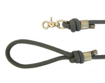 Dog leash - dog Paracord khaki leaves